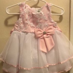 Rare Edition Dress Size 3 months Pink and White
